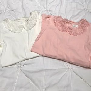 2 pack H&M Peter Pan collar onesies